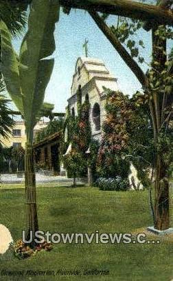 Glenwood Mission Inn - Riverside, California CA Postcard