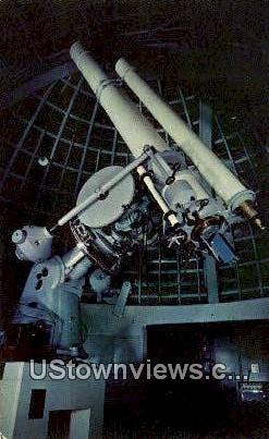 Twin Refracting Telescope - Los Angeles, California CA Postcard