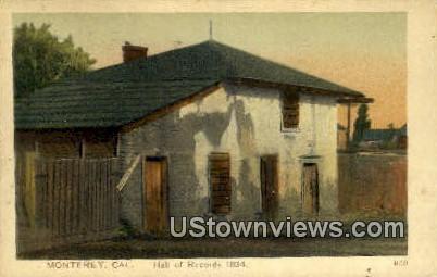Hall of Records 1834 - Monterey, California CA Postcard