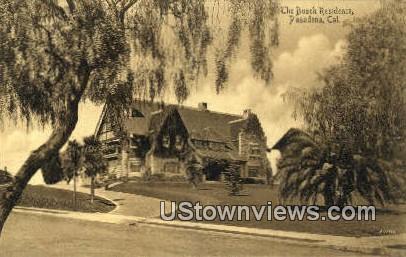 Busch Residence - Pasadena, California CA Postcard