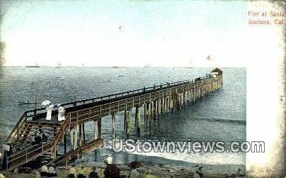 Pier - Santa Barbara, California CA Postcard