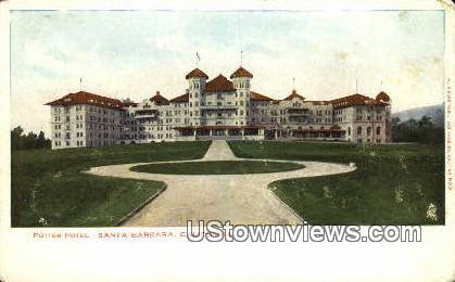 Potter Hotel - Santa Barbara, California CA Postcard