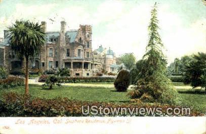 Stephens Residence Figueroa St - Los Angeles, California CA Postcard