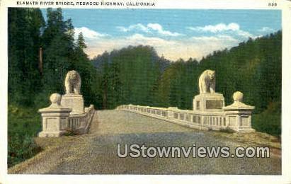 Klammath River Bridge - Redwood Highway, California CA Postcard
