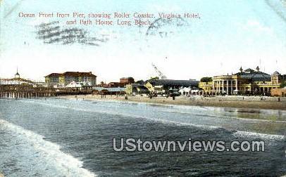Roller Coaster, Virginia Hotel - Long Beach, California CA Postcard