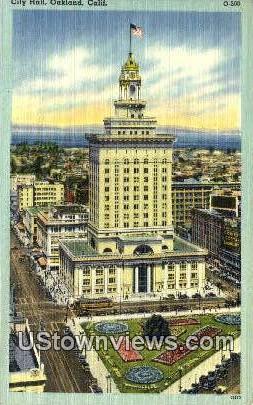 City Hall - Oakland, California CA Postcard