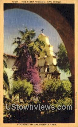 First Mission - San Diego, California CA Postcard