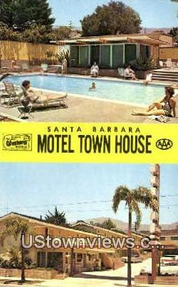 Motel Town House - Santa Barbara, California CA Postcard