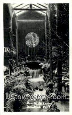 Brookdale Lodge, Real Photo - California CA Postcard