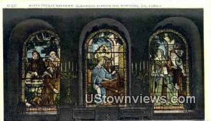 Santa Cecila Windows - Riverside, California CA Postcard