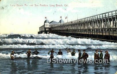Long Beach Pier - California CA Postcard