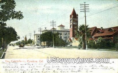 East Colorado St. - Pasadena, California CA Postcard