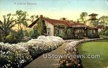 Bungalow - MIsc, California CA Postcard
