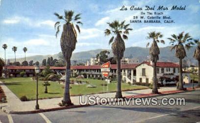 La Casa Del Mar Motel - Santa Barbara, California CA Postcard