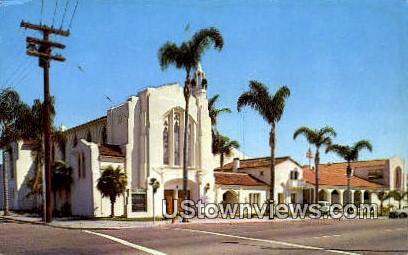 Grace Lutheran Church - San Diego, California CA Postcard