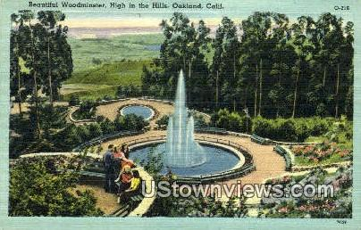 Woodminster, High in the Hills - Oakland, California CA Postcard