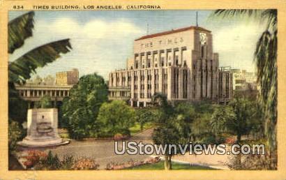 Times Bldg - Los Angeles, California CA Postcard