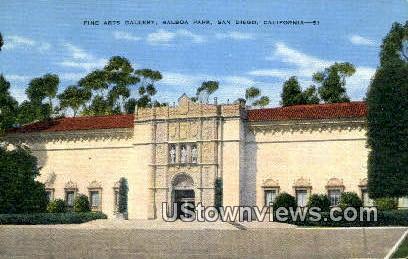 Fine Arts Gallery, Balboa Park - San Diego, California CA Postcard