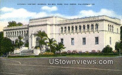 Natural History Museum - San Diego, California CA Postcard