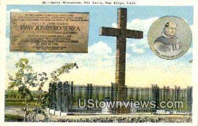 Serra Monument, Old Town - San Diego, California CA Postcard