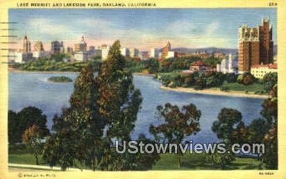 Lake Merritt - Oakland, California CA Postcard