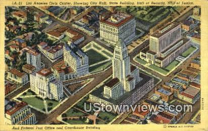 Los Angeles Civic Center - California CA Postcard