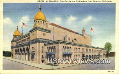 Al Malaikah Temple - Los Angeles, California CA Postcard