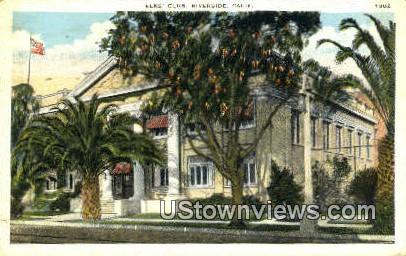 Elk's Club - Riverside, California CA Postcard