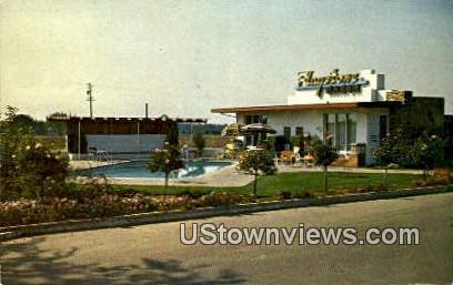Flagstone Manor - Stockton, California CA Postcard