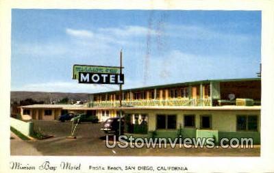 Mission Bay Motel - San Diego, California CA Postcard