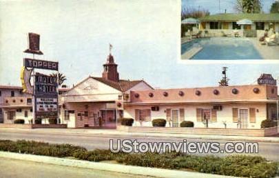 Topper Motor Hotel - Bakersfield, California CA Postcard