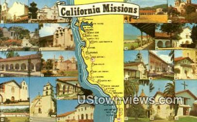 El Camino Real - San Diego, California CA Postcard