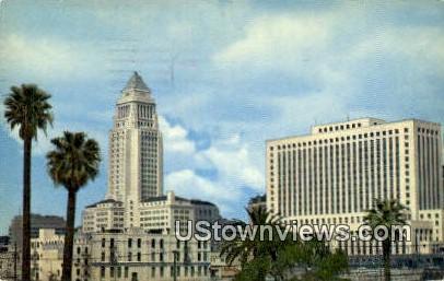 City Hall & Civic Center - Los Angeles, California CA Postcard