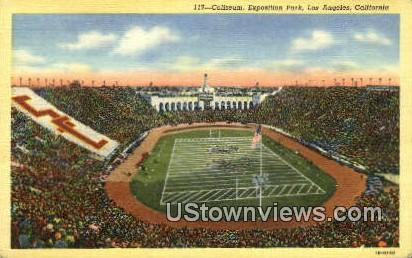 Coliseum, Exposition Park - Los Angeles, California CA Postcard