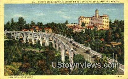 Hotel Vista Del Arroyo - Pasadena, California CA Postcard