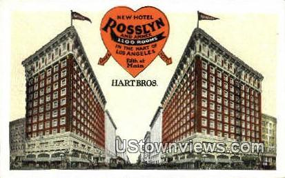 New Hotel Rosslyn - Los Angeles, California CA Postcard
