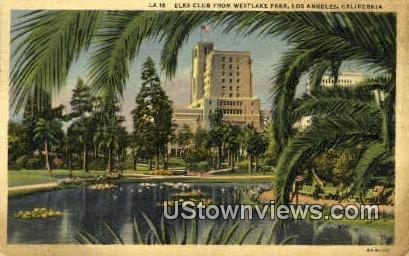 Elk's Club - Los Angeles, California CA Postcard