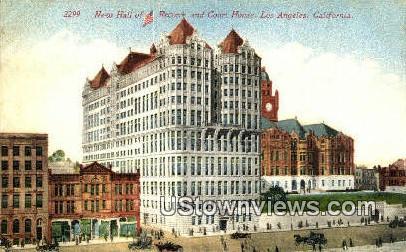New Hall of Records - Los Angeles, California CA Postcard