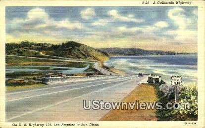 US Highway - Los Angeles, California CA Postcard