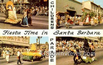 Fiesta Time - Santa Barbara, California CA Postcard