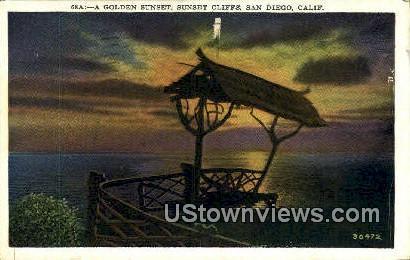 Sunset Cliffs - San Diego, California CA Postcard