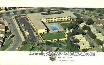 Lemon Tree Motor Hotel - Santa Barbara, California CA Postcard