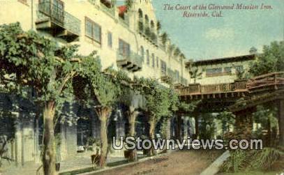 Court, Glenwood Mission Inn - Riverside, California CA Postcard