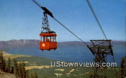 Lake Tahoe Vista - California CA Postcard