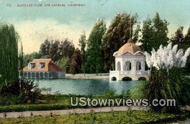 Eastlake Park - Los Angeles, California CA Postcard