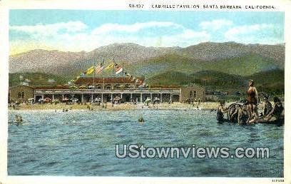 Cabrillo Pavilion - Santa Barbara, California CA Postcard
