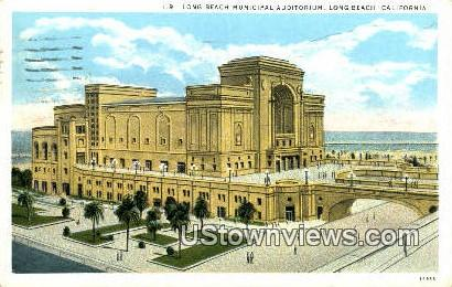 Long Beach Municipal Aud - California CA Postcard