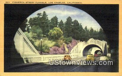 Figueroa Street Tunnels - Los Angeles, California CA Postcard