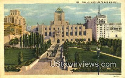 Los Angeles Public Library - California CA Postcard