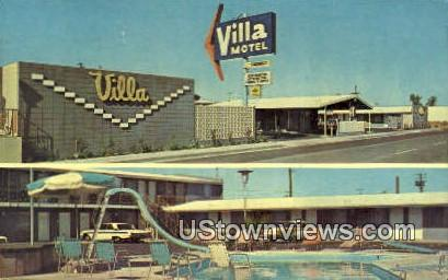 Villa Motel - Fresno, California CA Postcard